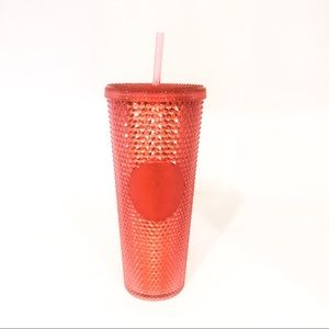 Starbucks Hot Pink Studded Tumbler Holiday